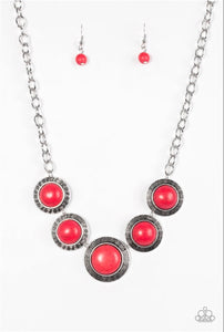 Paparazzi Jewelry Necklace Mountain Roamer - Red