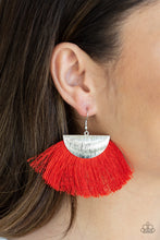Load image into Gallery viewer, Paparazzi Jewelry Earrings Fox Trap - Red