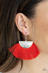 Paparazzi Jewelry Earrings Fox Trap - Red