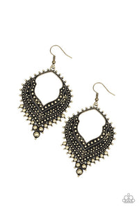 Paparazzi Jewelry Earrings Sweep It Under The RUGGED - Brass