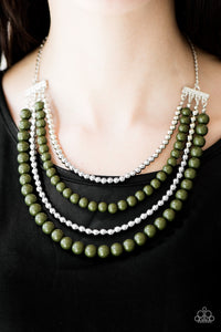 Paparazzi Jewelry Necklace A FOUR-ce To Be Reckoned With - Green