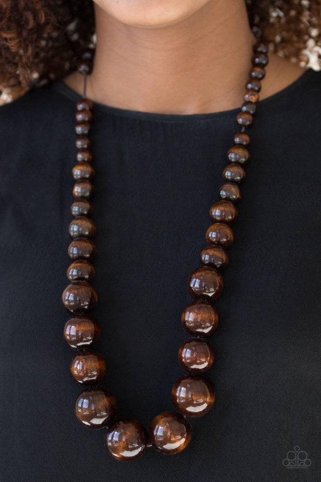 Paparazzi Jewelry Wooden Effortlessly Everglades - Brown