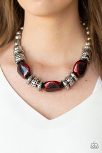 Paparazzi Jewelry Necklace Colorfully Confident - Red
