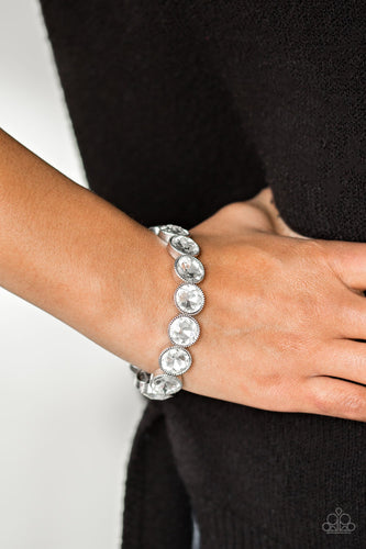Paparazzi Jewelry Bracelet Number One Knockout - White