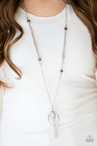Paparazzi Jewelry Necklace Teardroppin Tassels - Silver