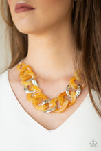 Load image into Gallery viewer, Paparazzi Jewelry Necklace I Have A HAUTE Date - Yellow