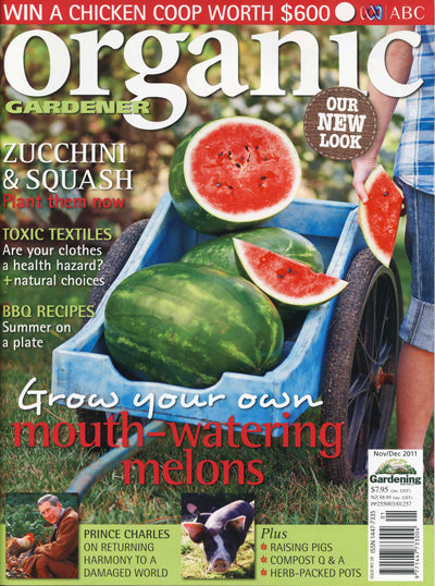 Wellies page in Organic Gardener December 2011