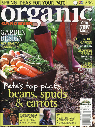 Wellies page in Organic Gardener October 2011