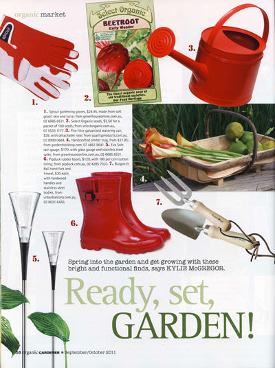 Wellies featured in Organic Gardener October 2011