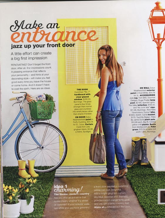 Wellies page in Real Living May 2010