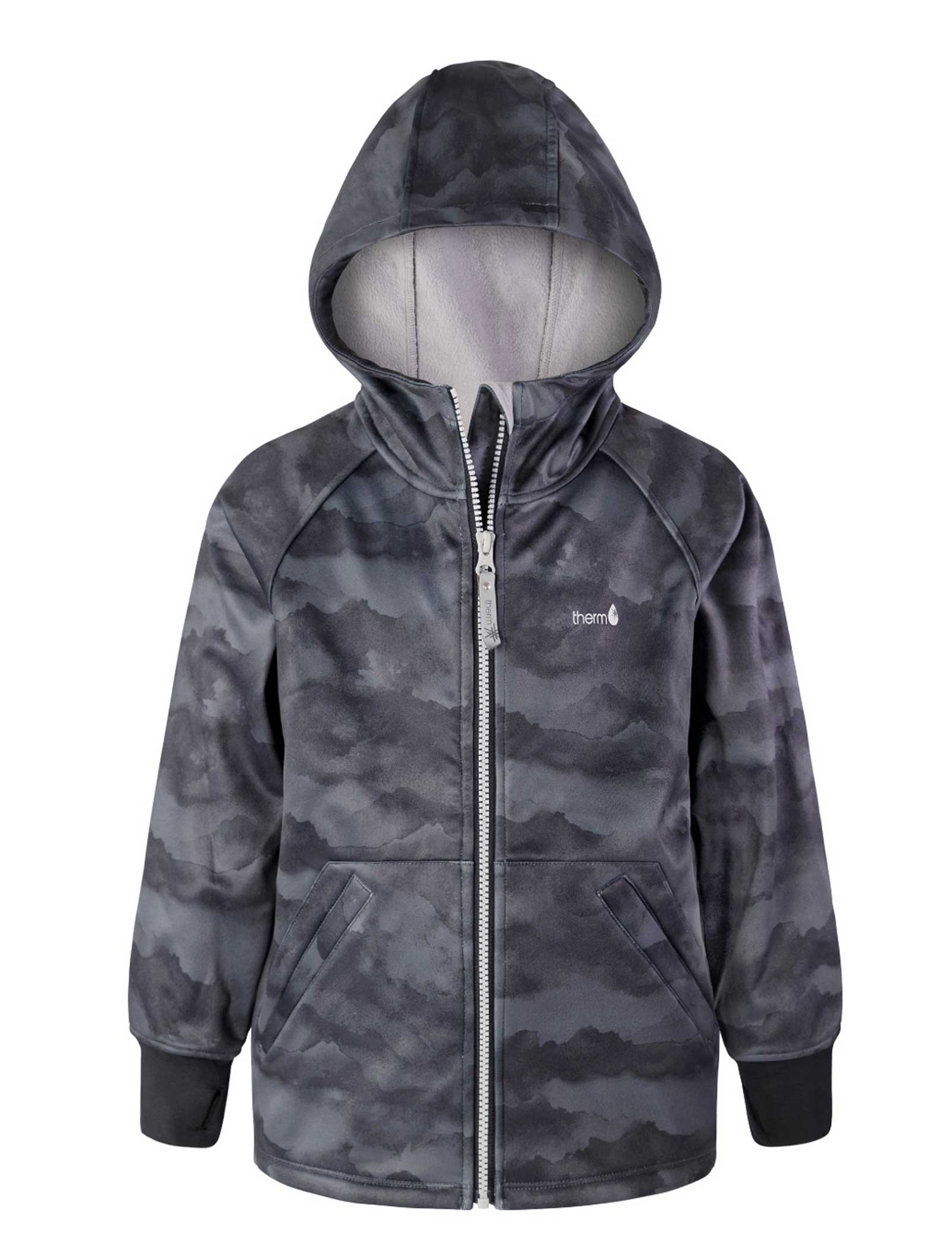 All Weather Boys Hoodie Black Mountain