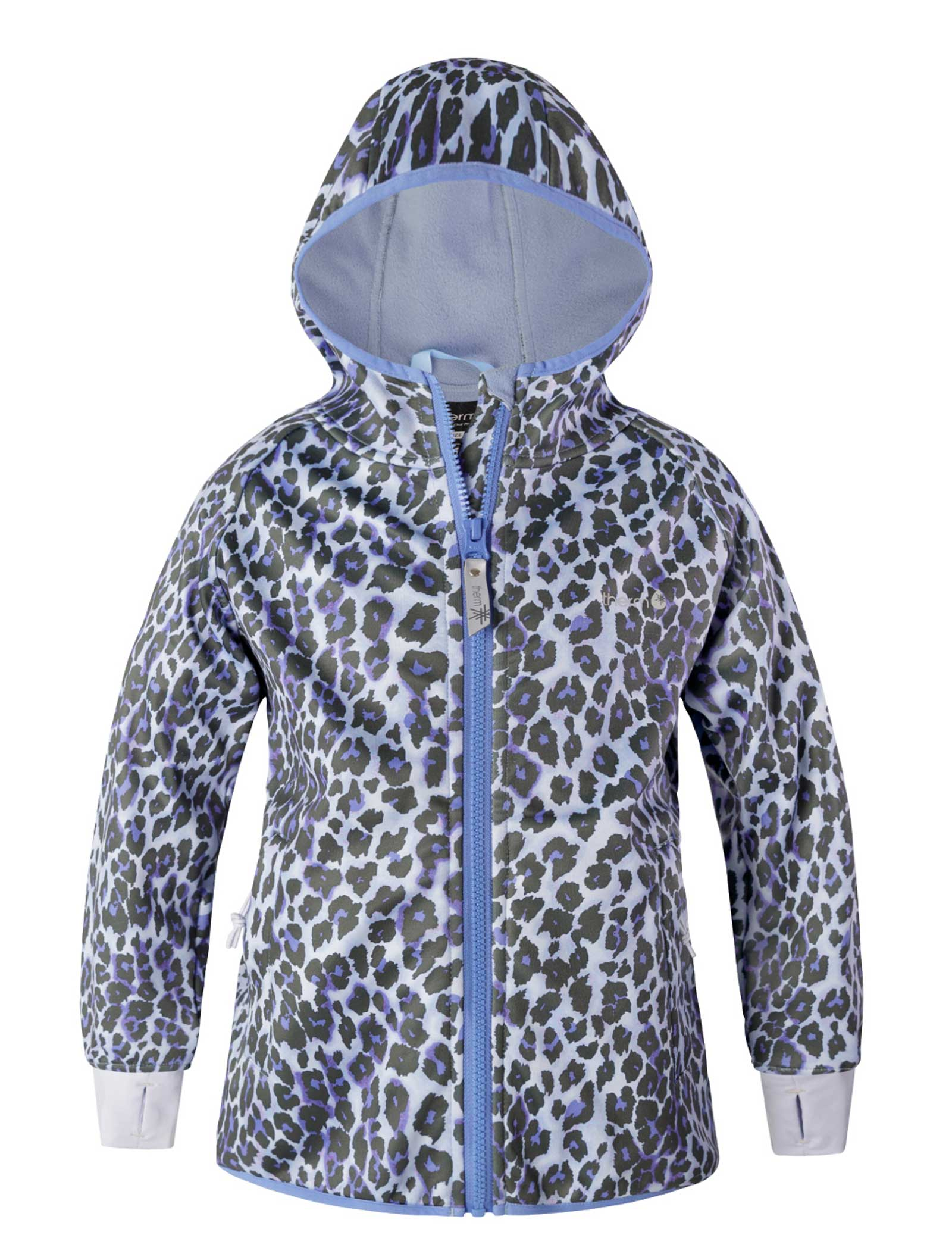 All Weather Girls Hoodie Blue Leopard