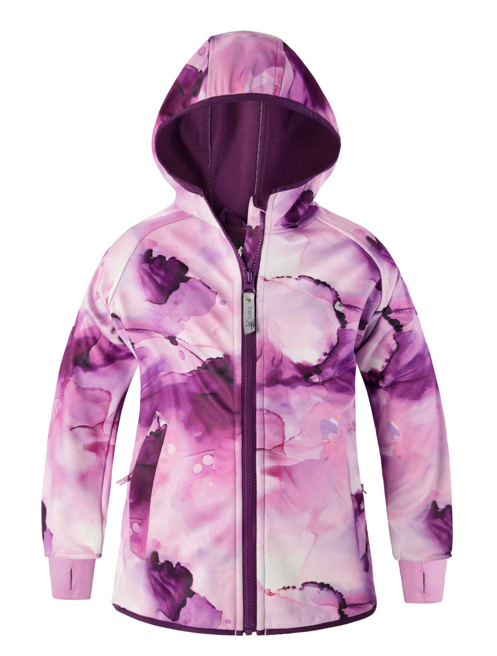 All Weather Girls Hoodie Watercolour Marble