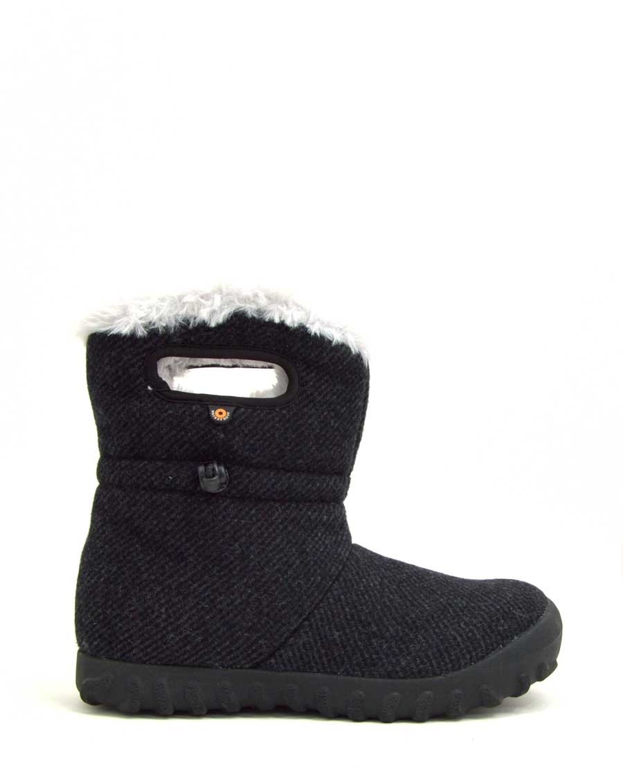 B-Moc Wool Insulated Black Wellies