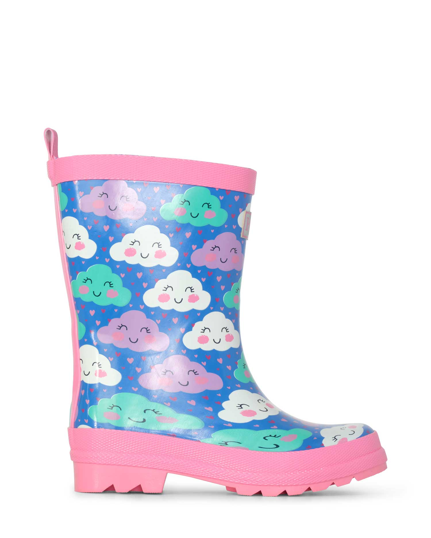 Cheerful Clouds Shiny Gumboots