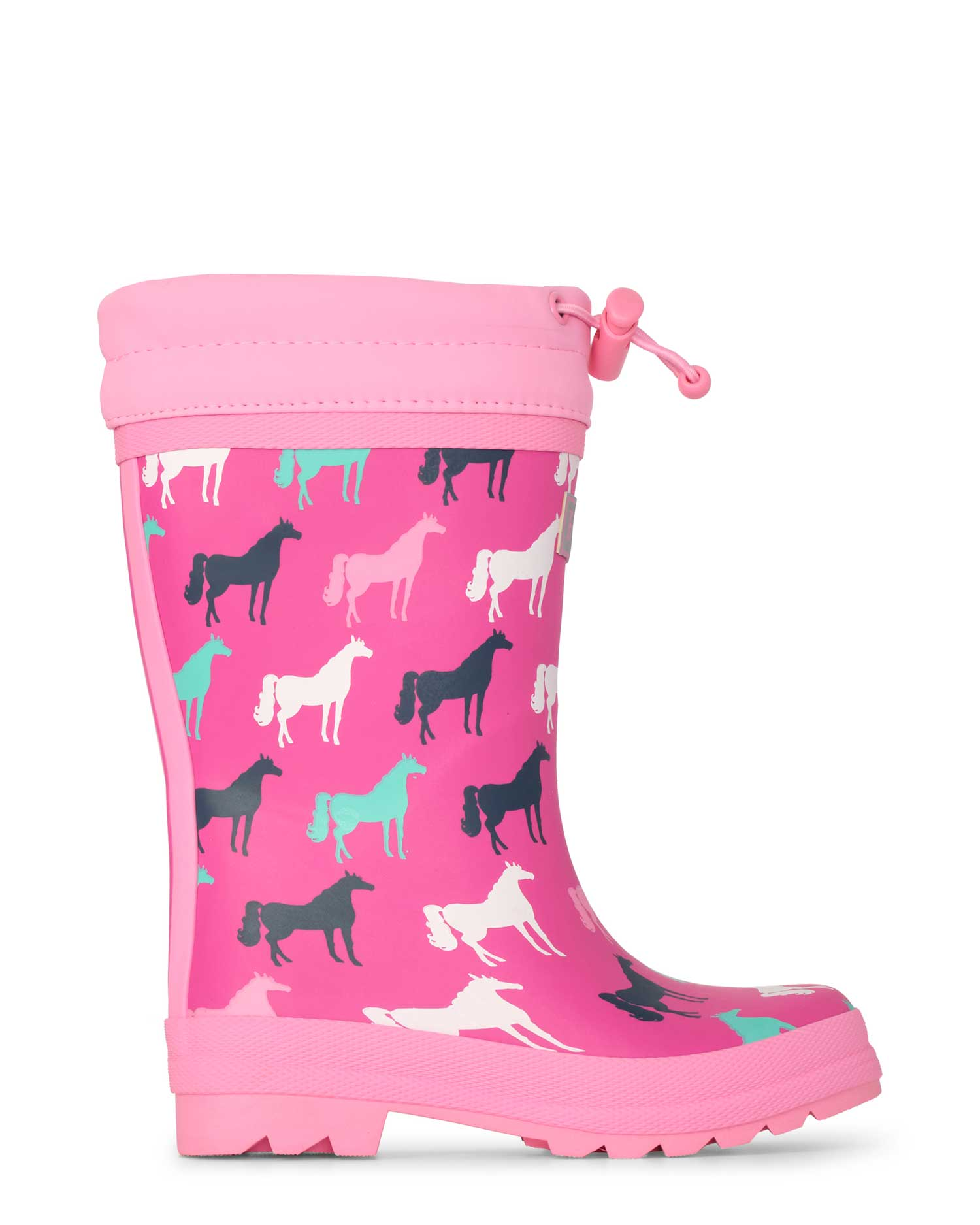 Horse Silhouettes Sherpa Lined Gumboots
