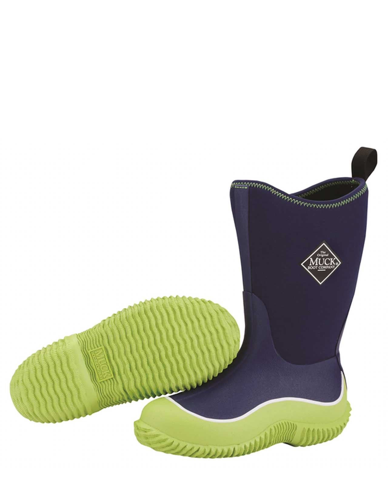 Kids Hale Blue & Green Gumboots