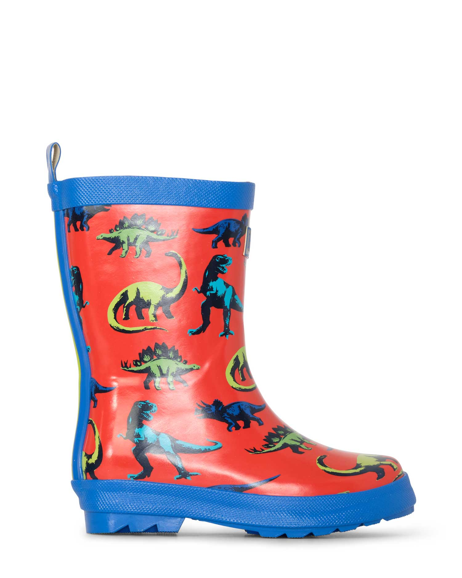 Painted Dinos Shiny Gumboots