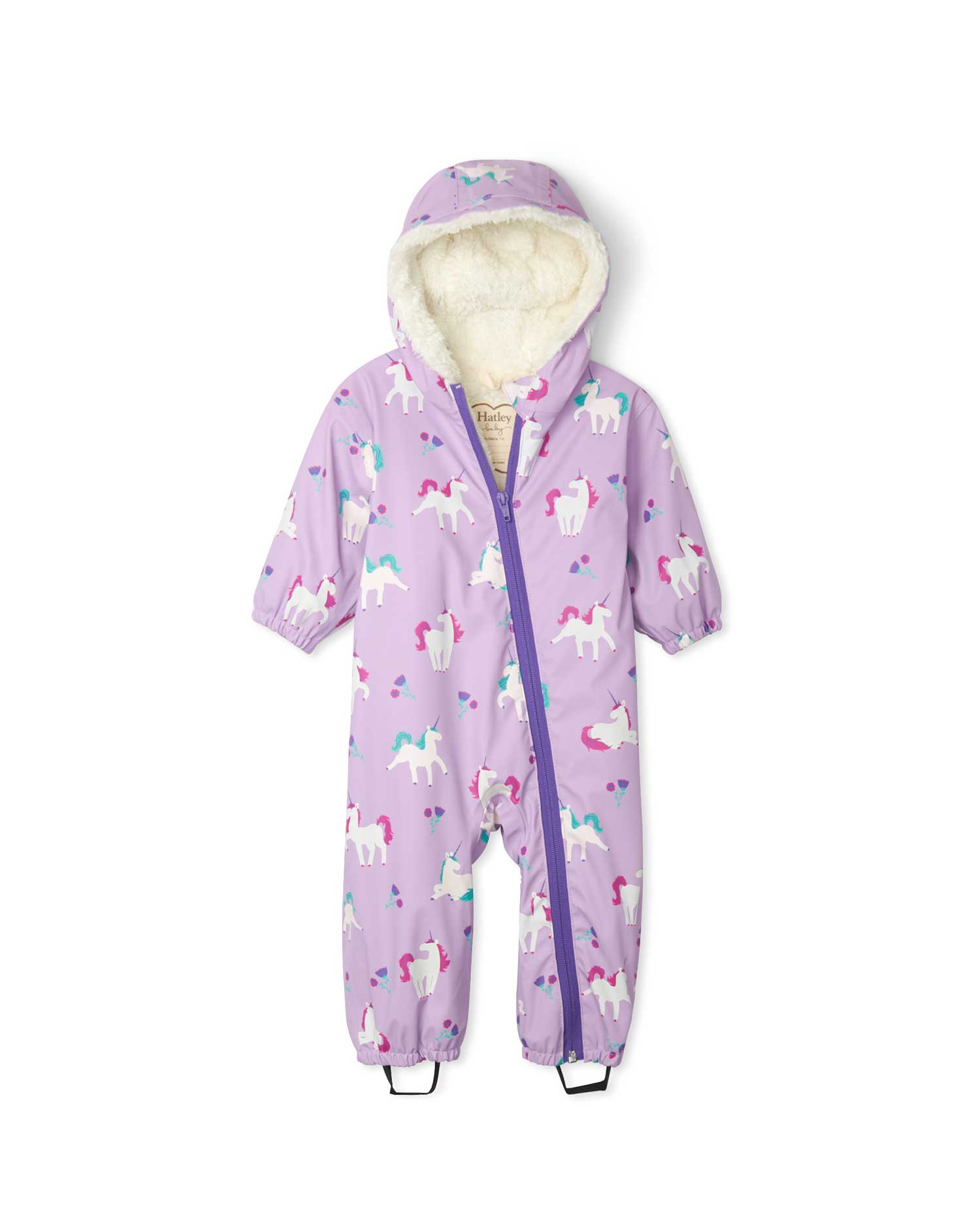 Playful Unicorns Sherpa Lined Colour Changing Baby Bundler