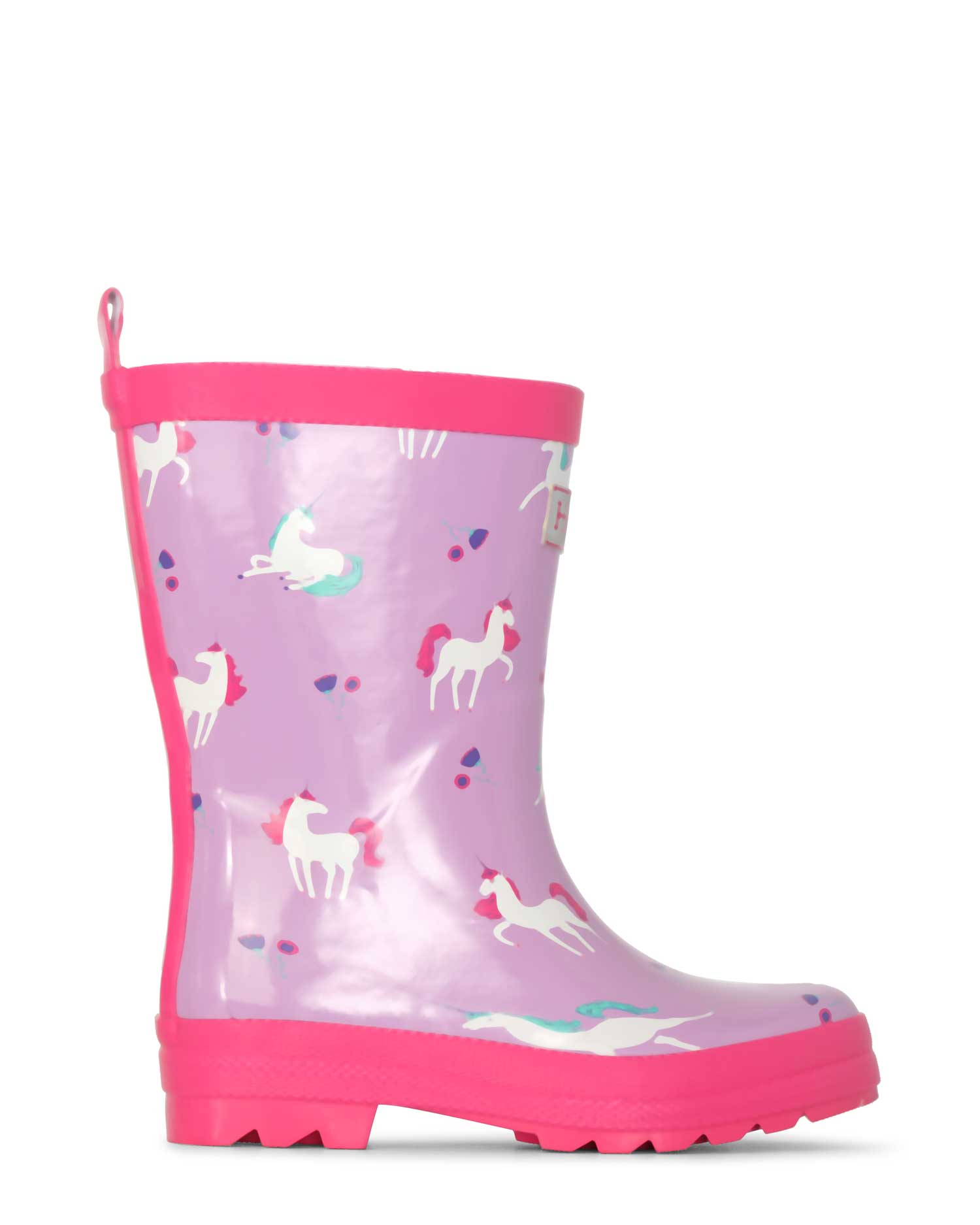 Playful Unicorns Shiny Gumboots