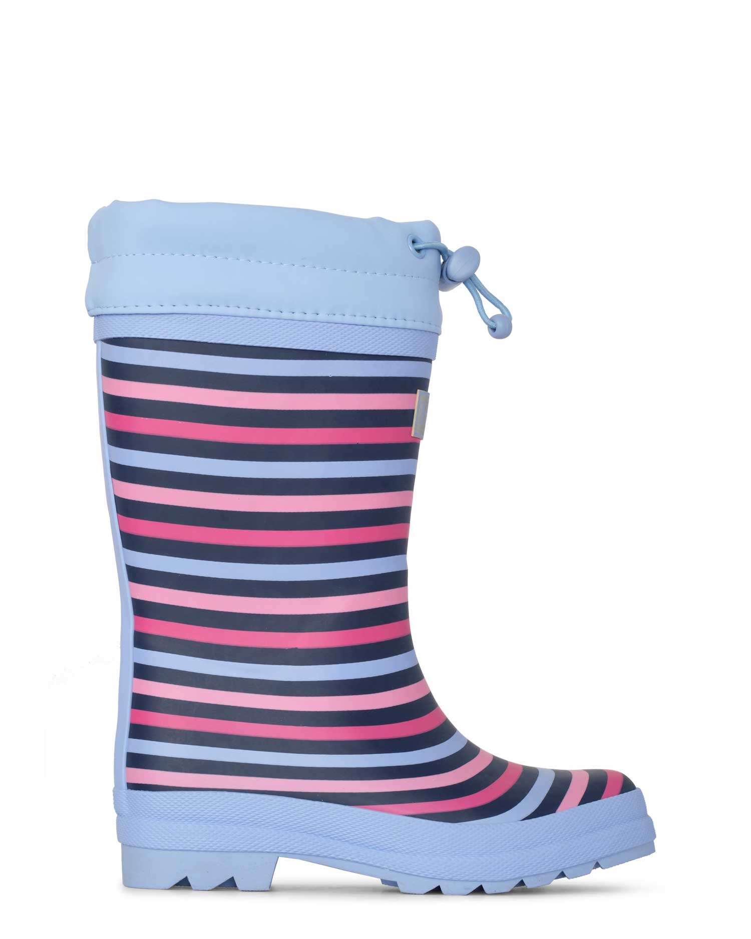 Rainbow Stripe Sherpa Lined Gumboots