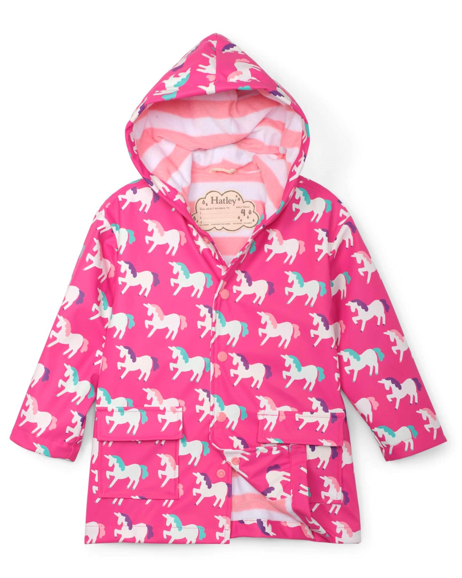 Mystic Unicorns Changing Colour Raincoat