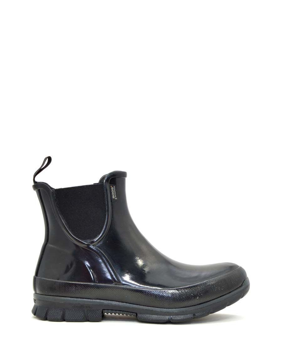 Amanda Slip-on Rubber Boots Black