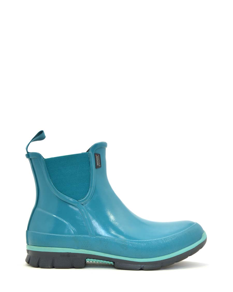 Amanda Slip-on Rubber Boots Emerald