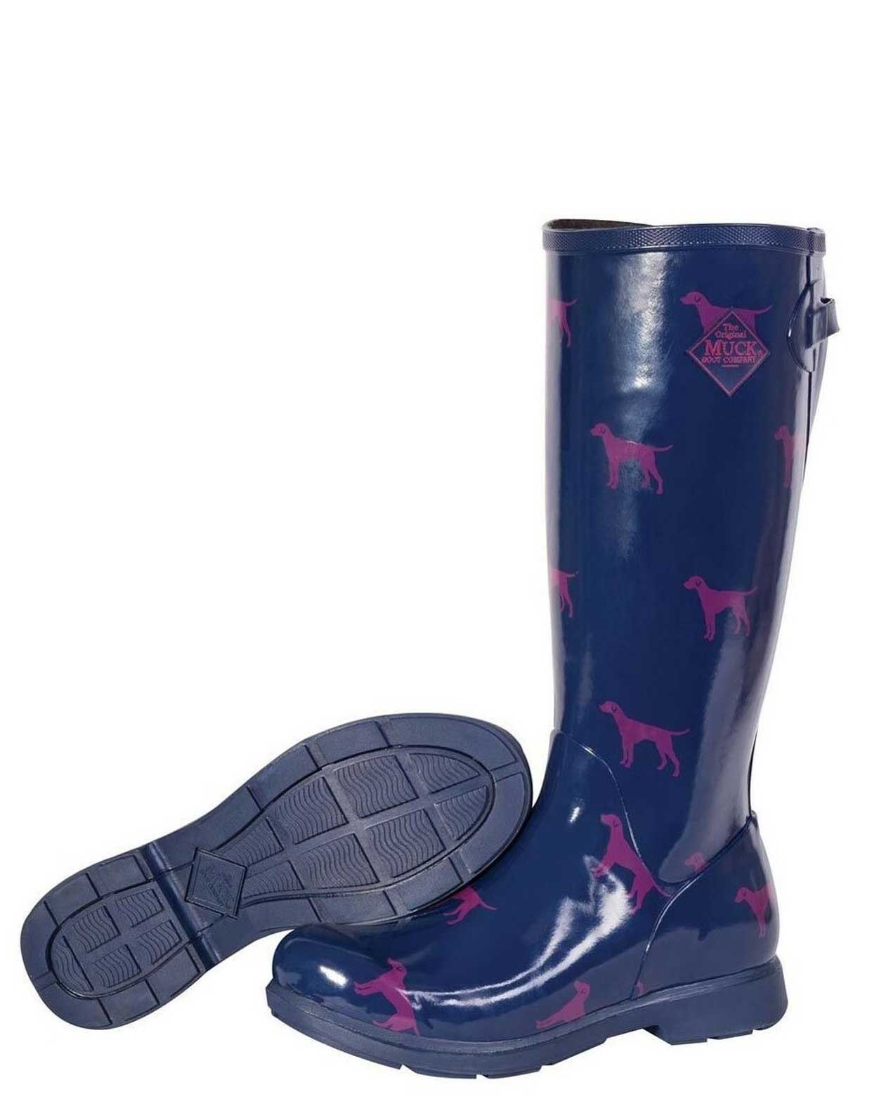 Bergen Blue Dog Tall Gumboots