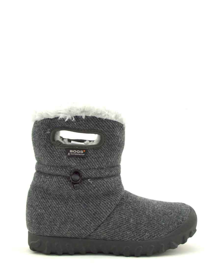 B-Moc Wool Insulated Charcoal Wellies