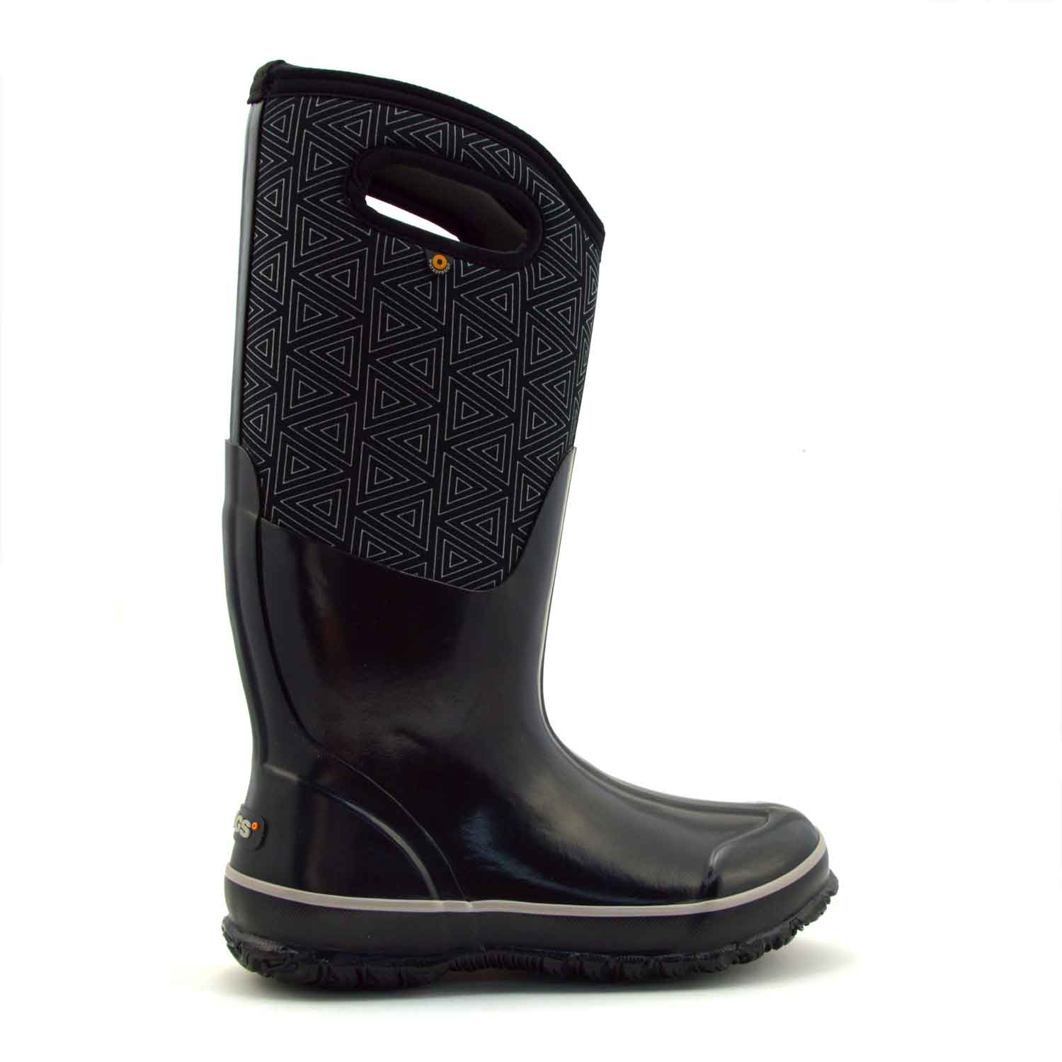Classic High Triangles Black Gumboots