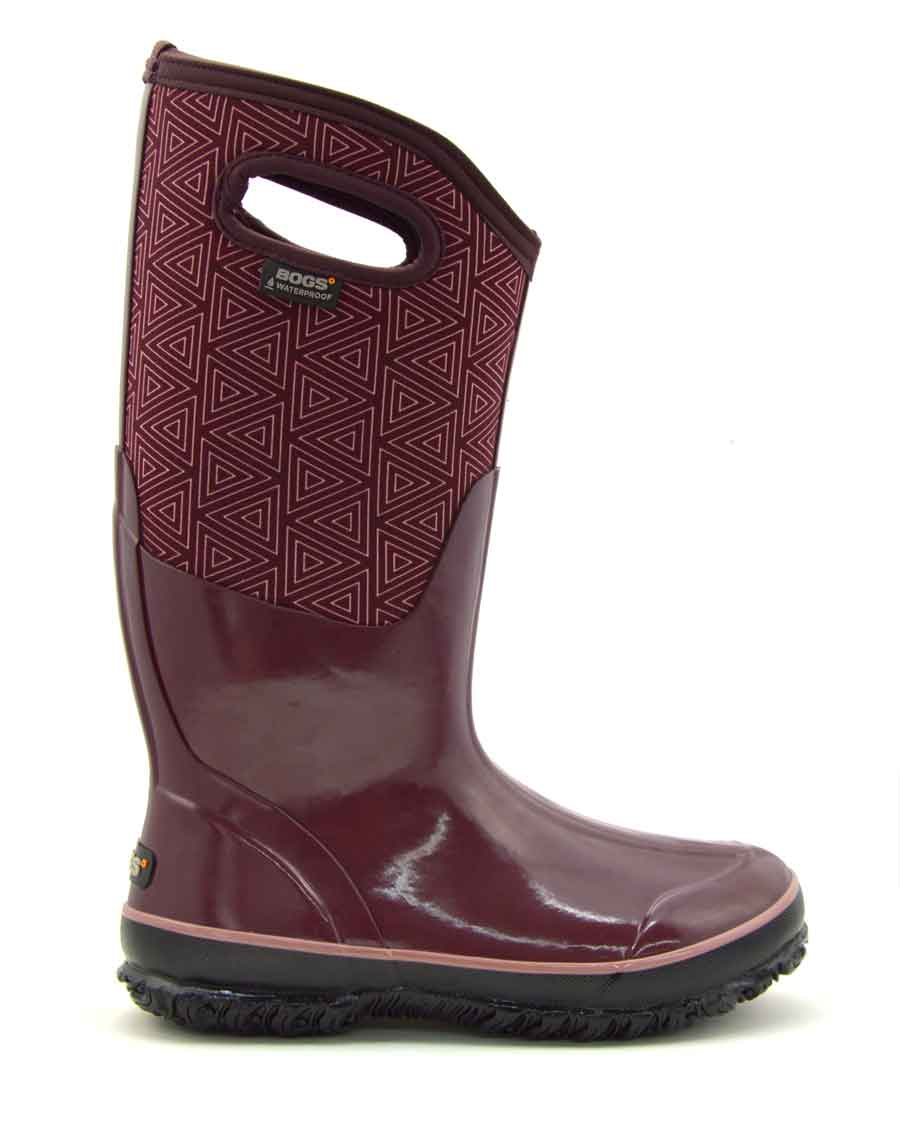 Classic High Triangles Plum Gumboots