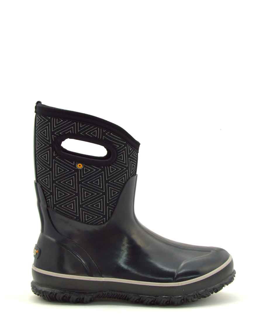 Classic Triangles Mid Black Gumboots