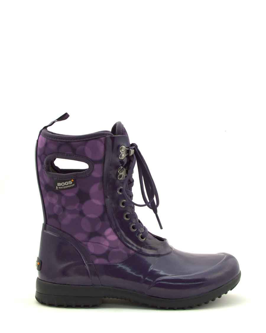 Sidney Rain Magenta Lace Up Gumboots