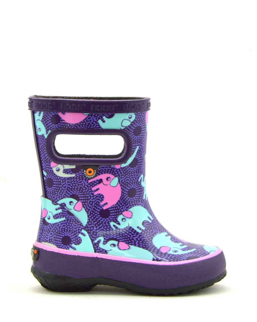 Skipper Elephant Purple Kids Gumboots