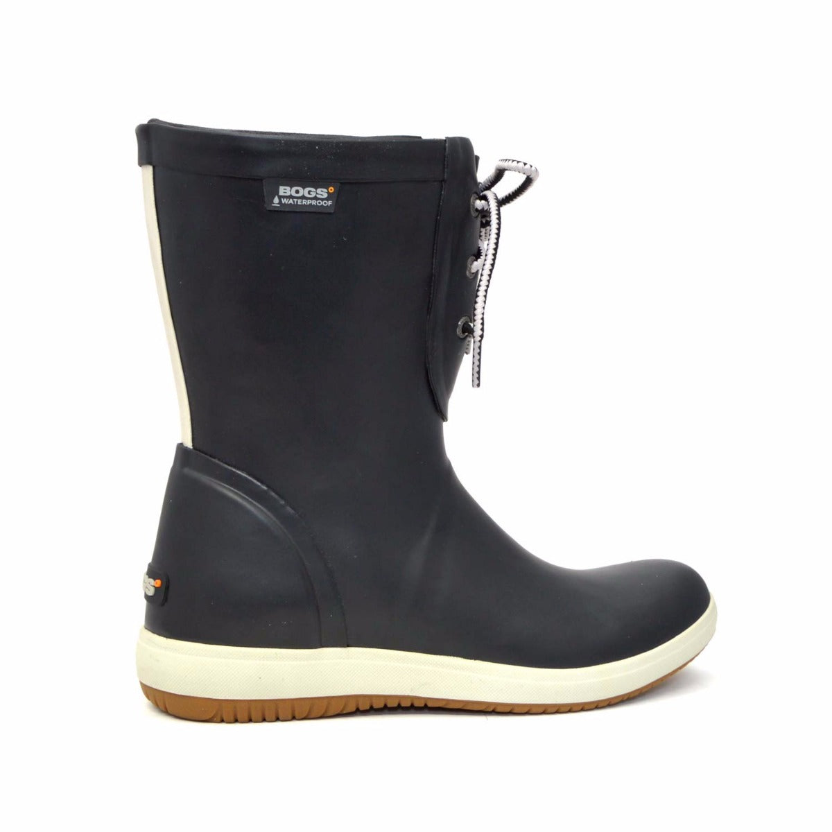 Quinn Lace Up Black Gumboots
