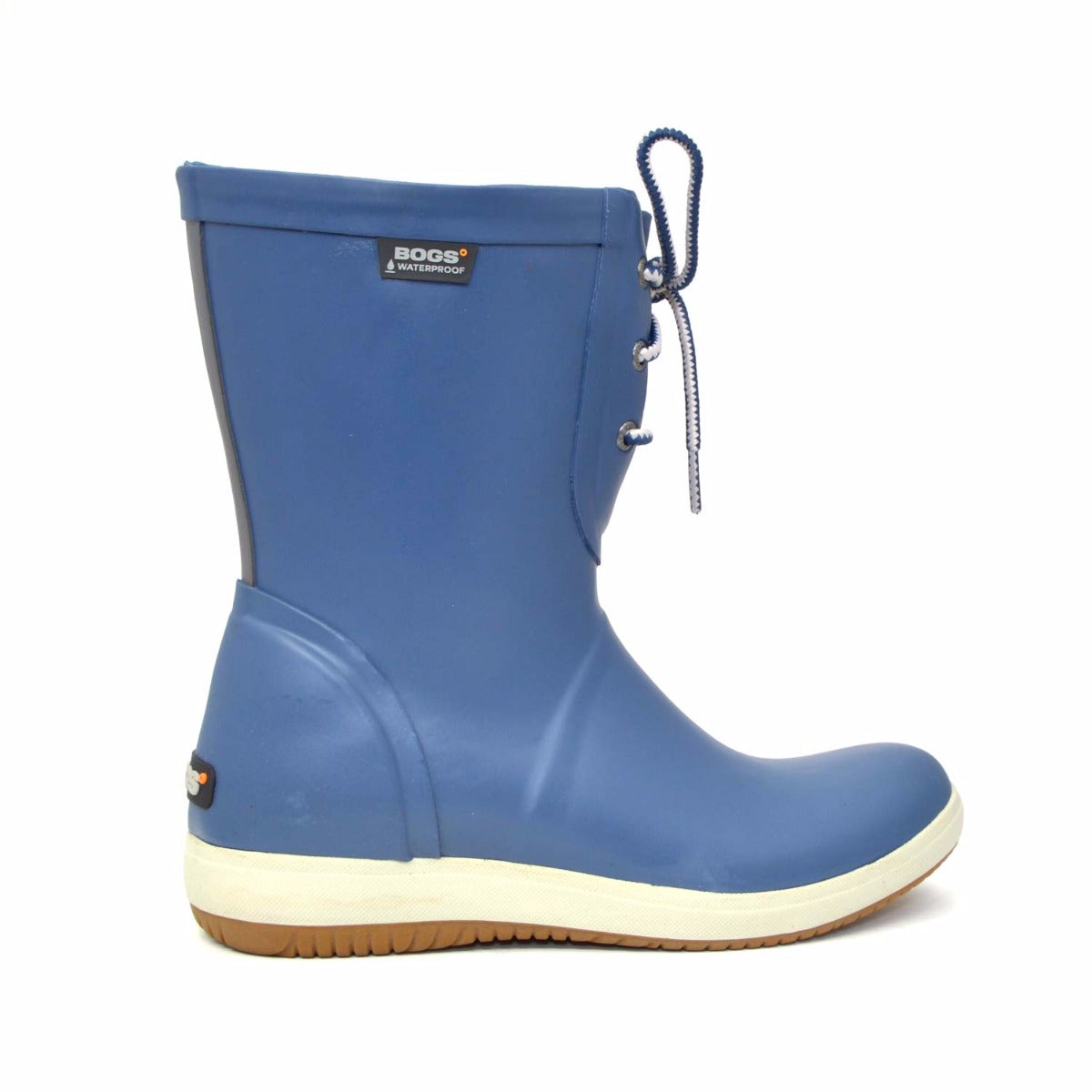 Quinn Lace Up Blue Gumboots