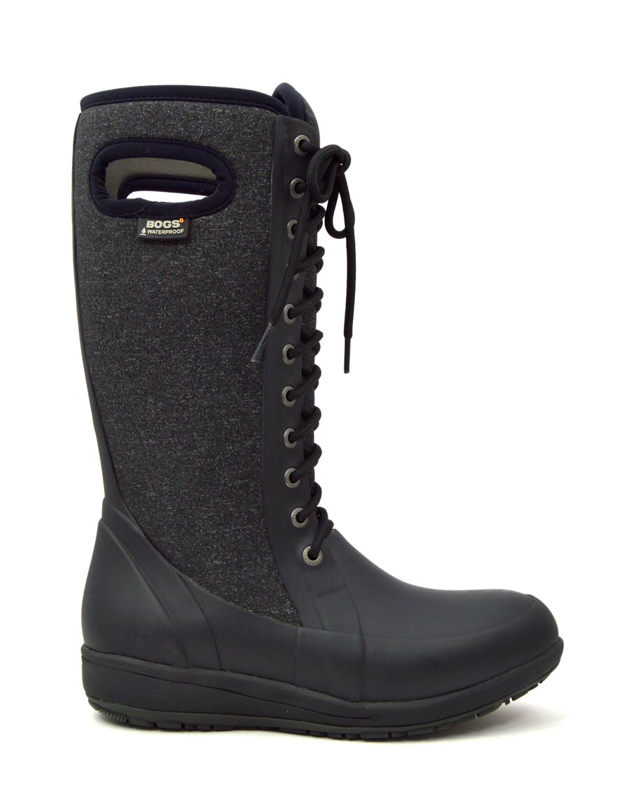Cami Lace Tall Black Wellies