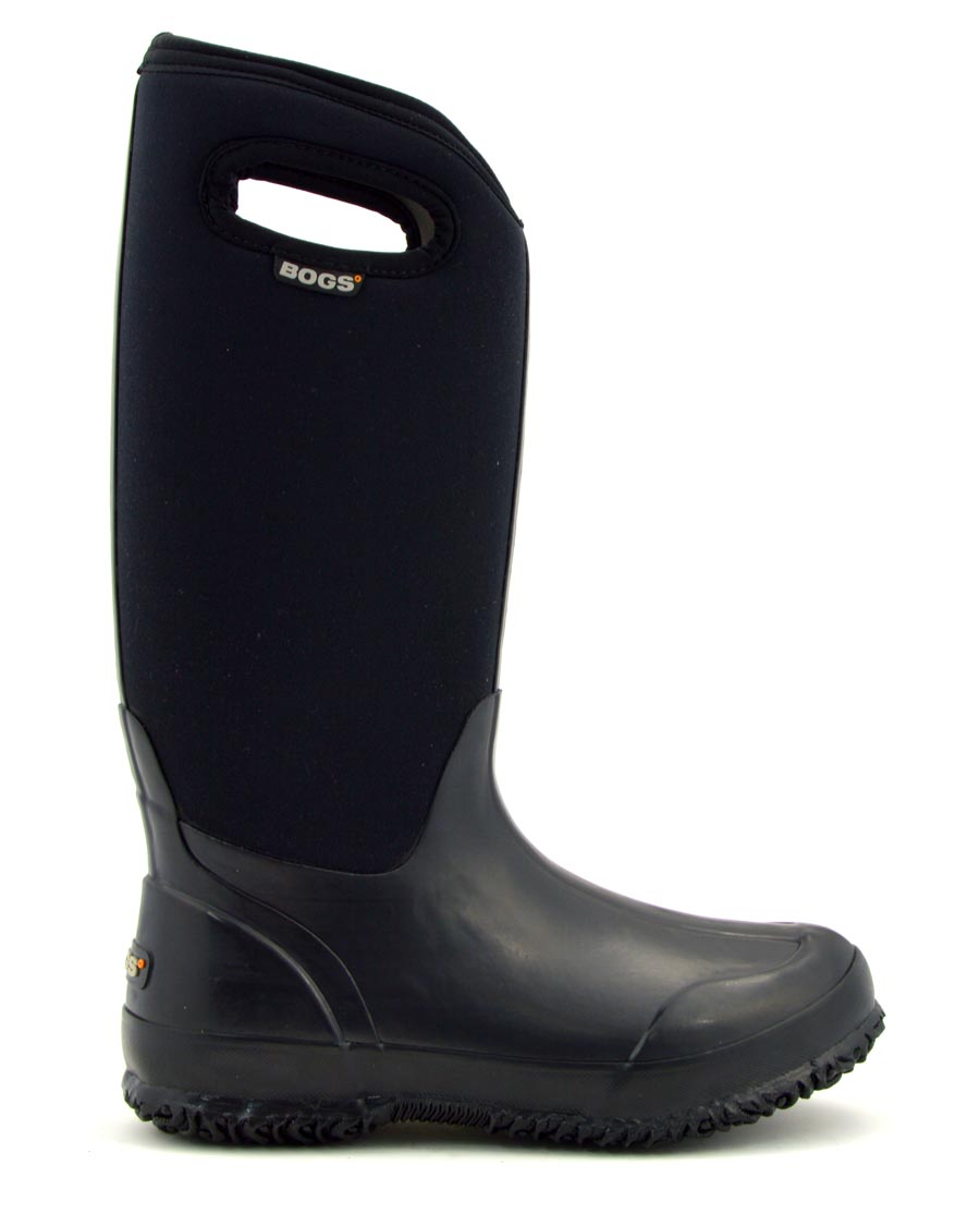 Classic High Black Shiny Wellies