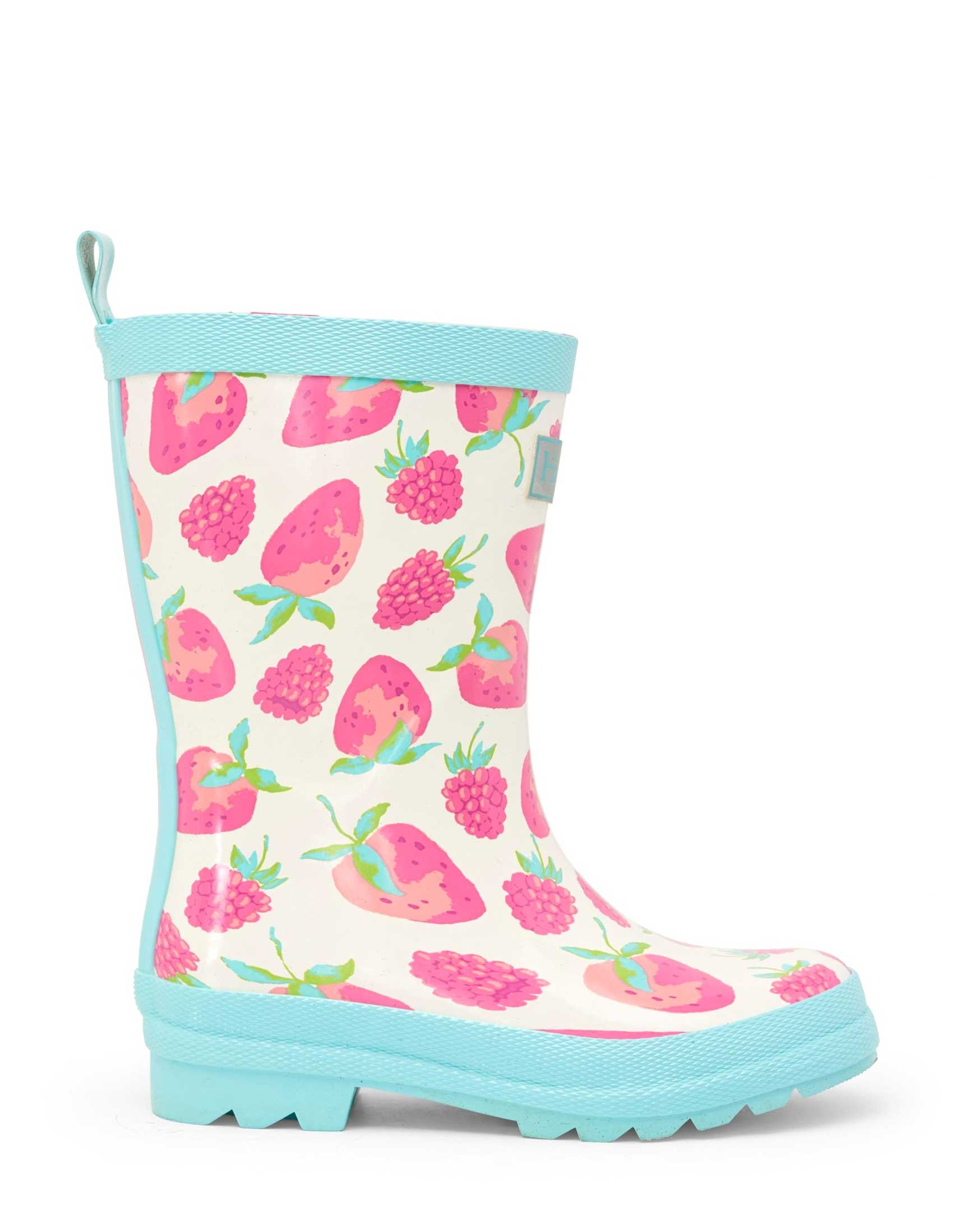 Delicious Berries Shiny Gumboots