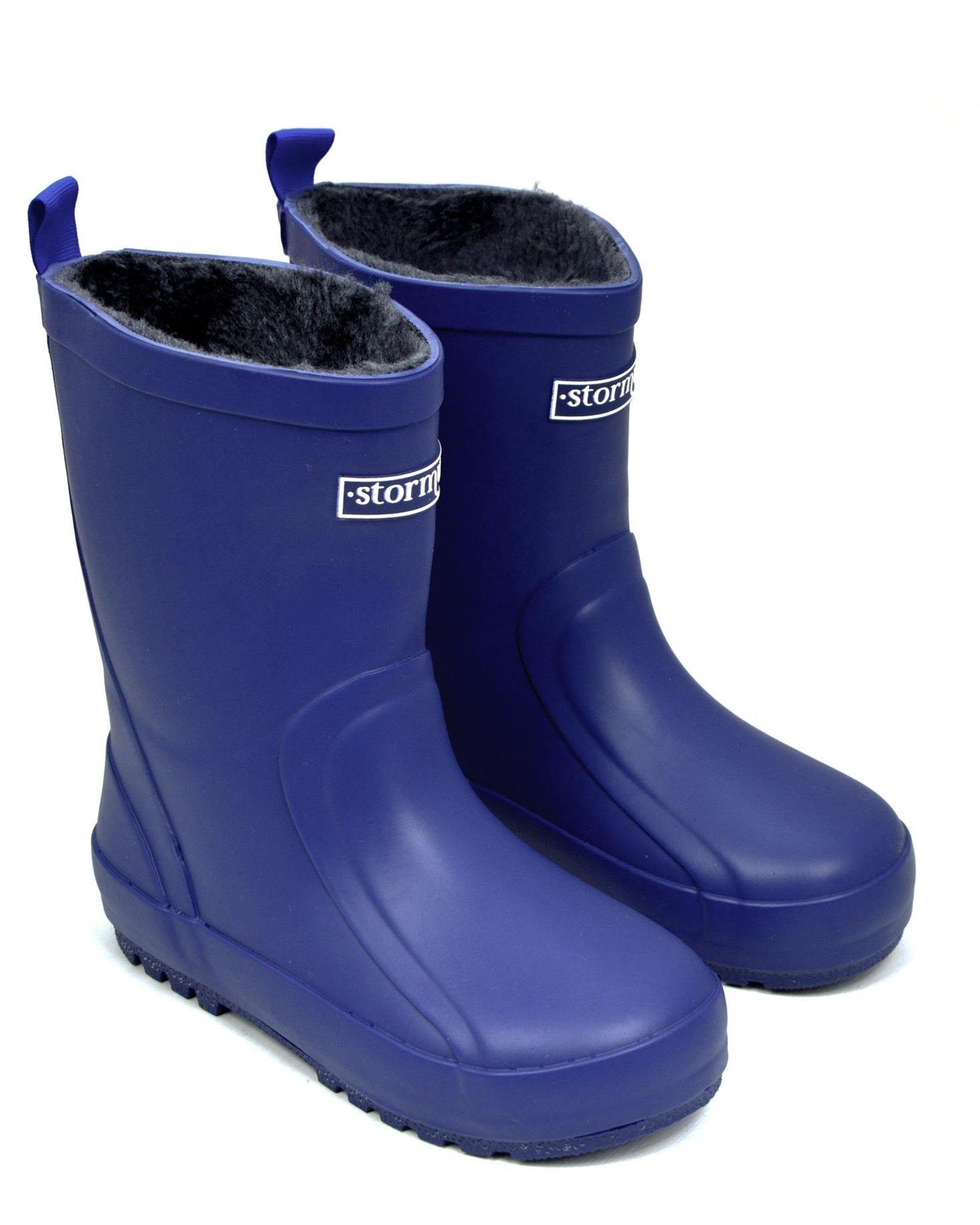 Fleeced Original II Blue Kids Gumboots