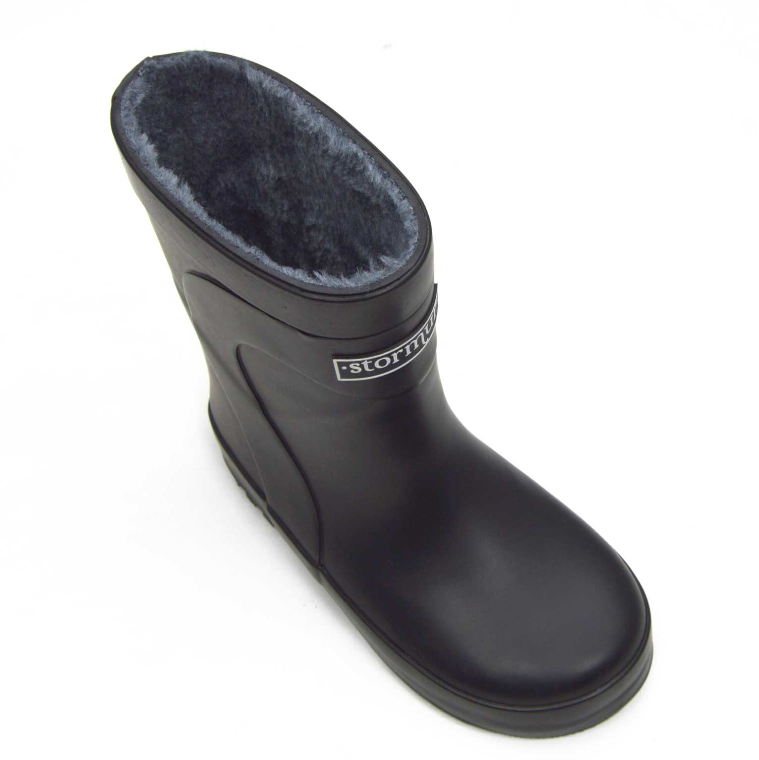 Fleeced Original Kids Gumboots Black