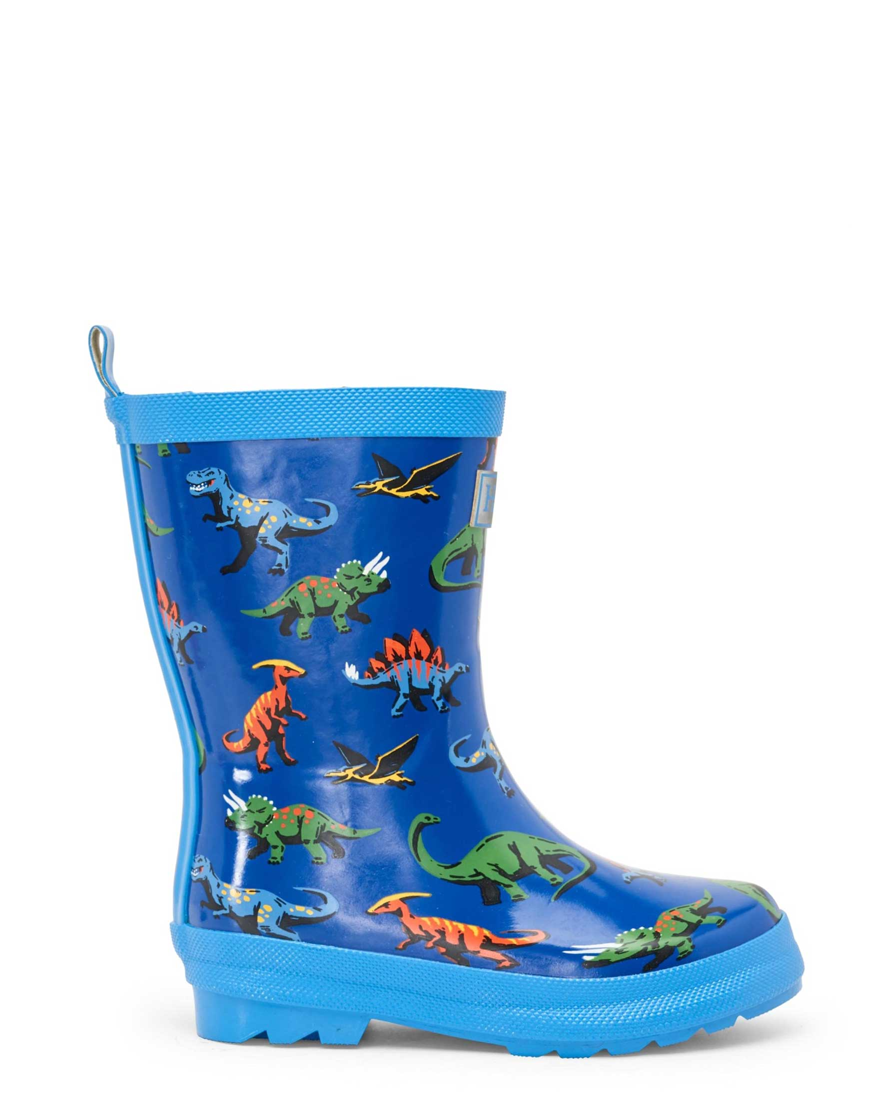 Friendly Dinos Shiny Gumboots