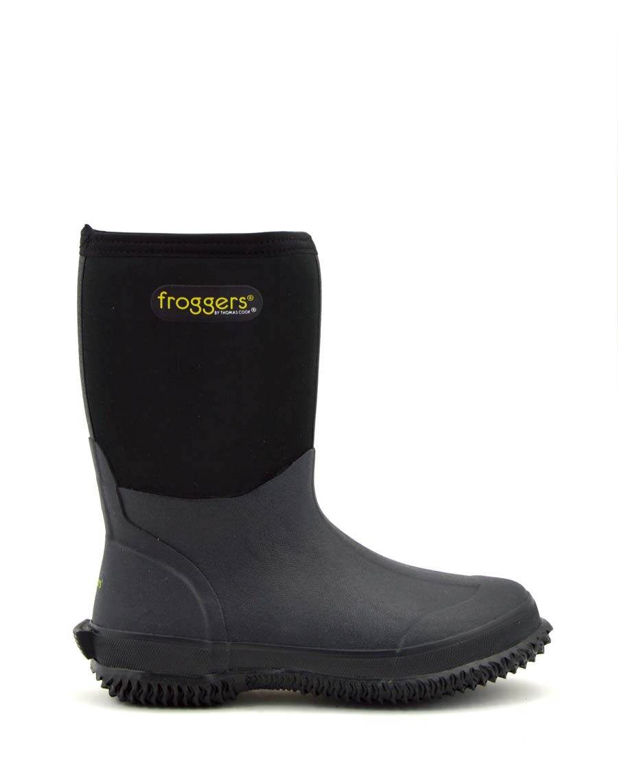 Frogger Scrub Boot Black - Men