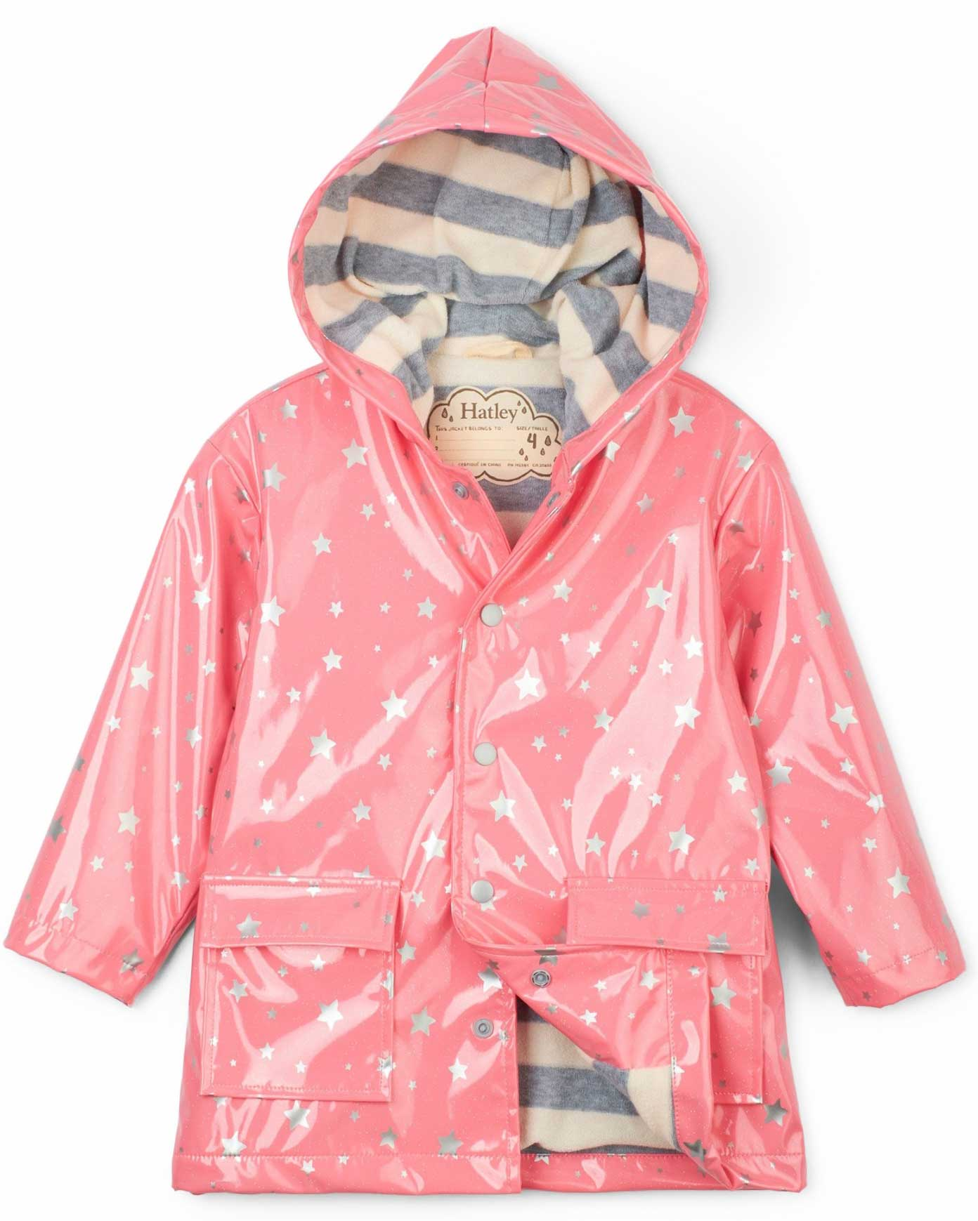 Metallic Stars Raincoat