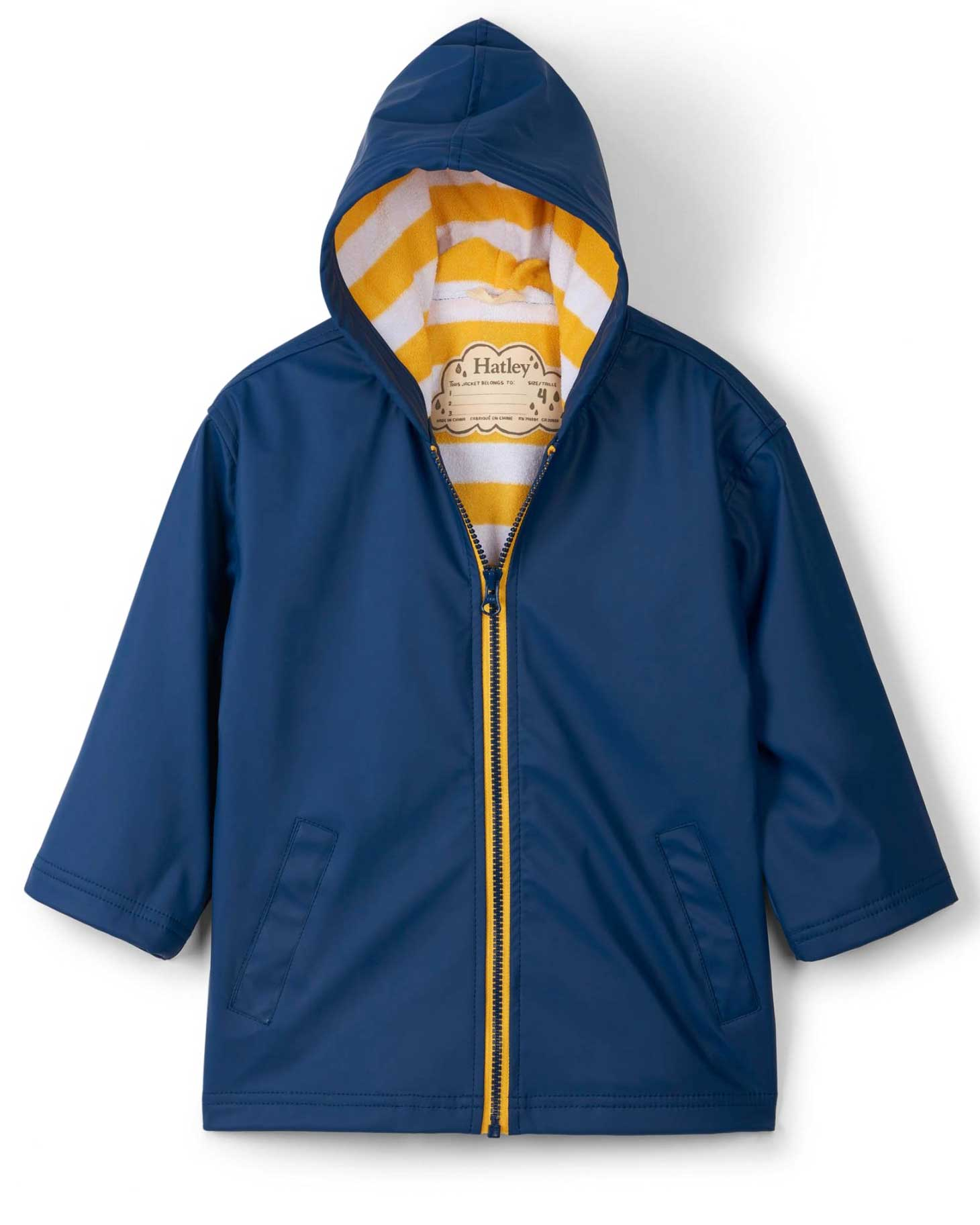 Navy With Yellow Splash Jacket