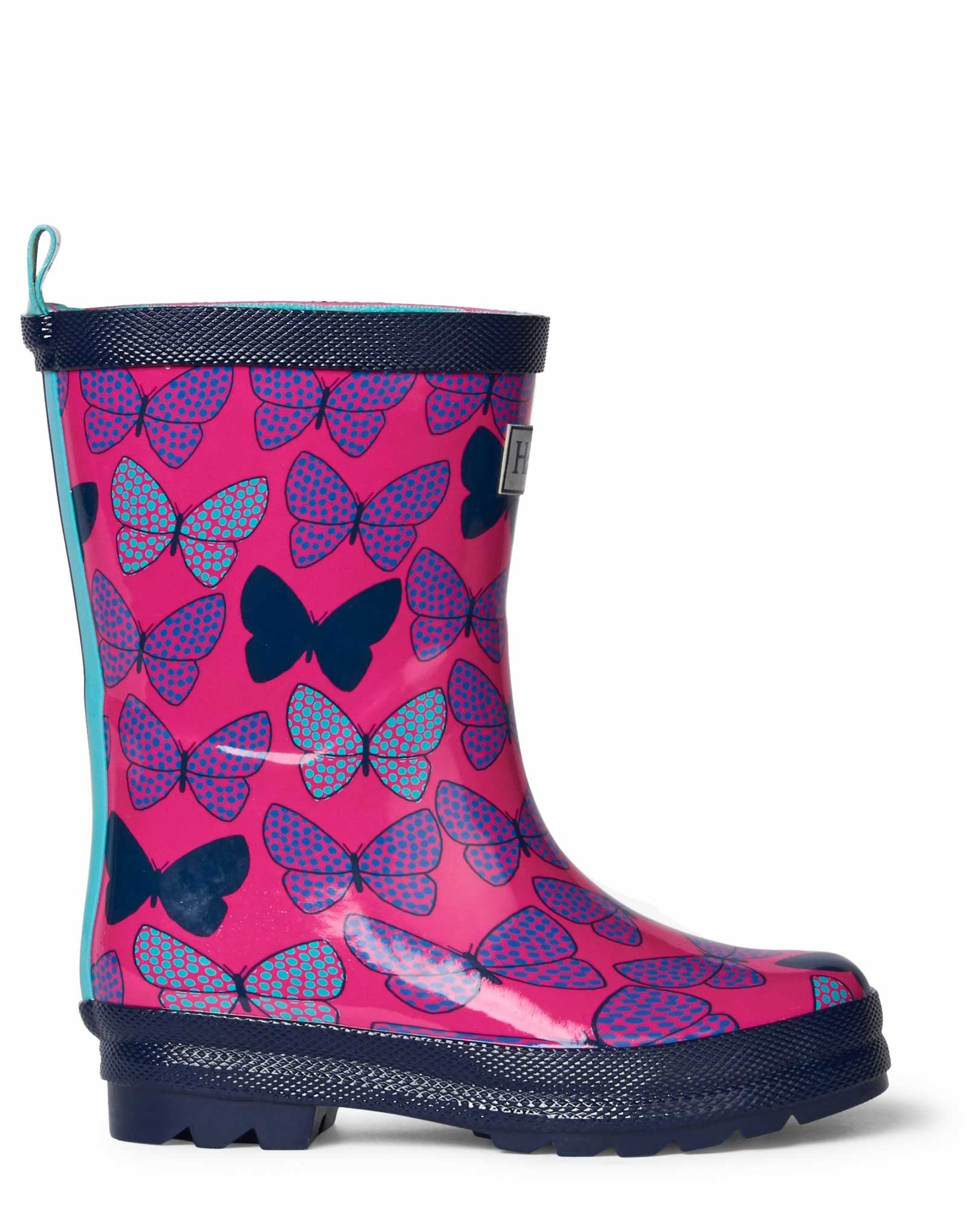 Spotted Butterflies Shiny Gumboots