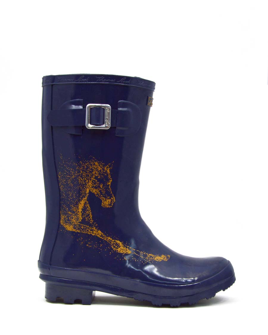 Launceston Navy Horse Gumboots