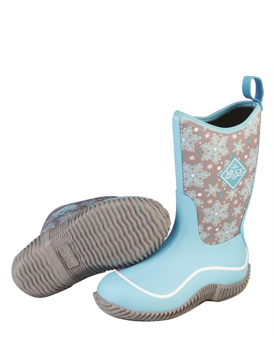 Kids Hale Blue Snow Flake Gumboots