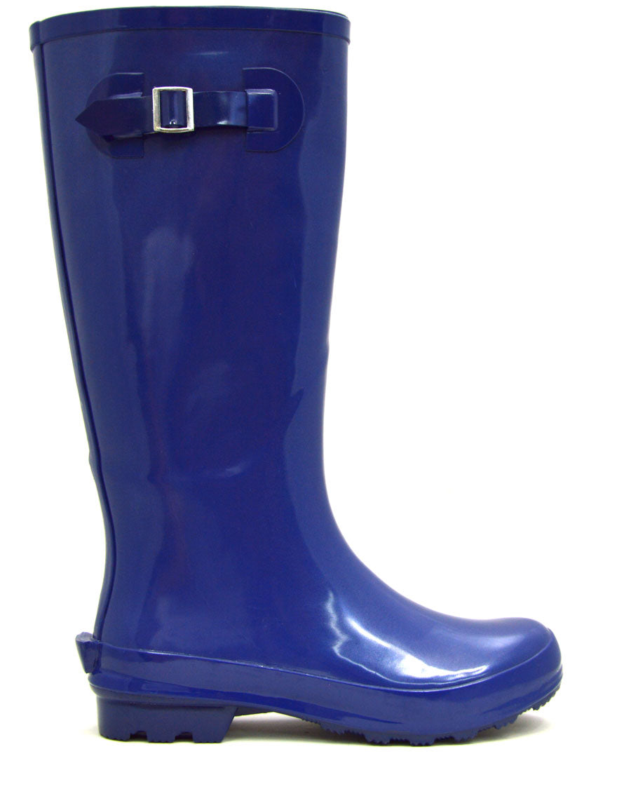 Ladies Navy Gumboots